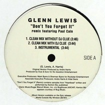 GLENN LEWIS : DON'T YOU FORGET IT