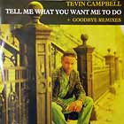 TEVIN CAMPBELL : TELL ME WHAT U WANT ME TO DO  / GOODBYE (REMIXES)